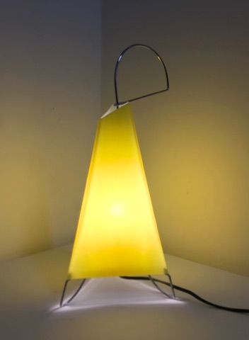 Design R. Pamio for Leucos - Table top lamp 'Lucerna T' in cased glass, 1990s
