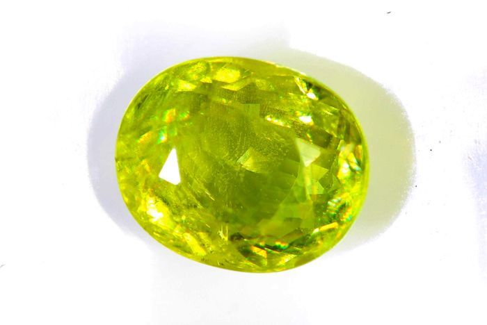 Sphene - 2.08 ct - Yellow - Green