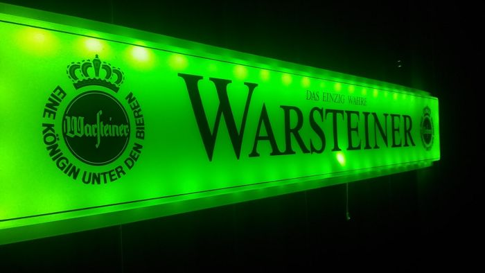 WARSTEINER light box 125/22 / 3cm - remote controled - extra flat - 150 LEDs - 20 alternating lighting options.