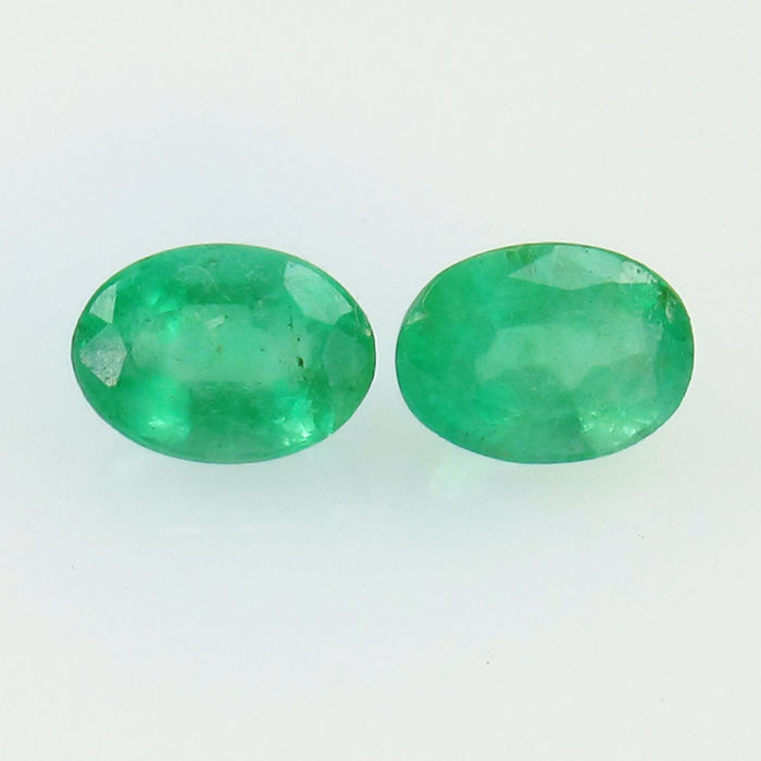 Emerald Pair - 1.74 Ct -  No Reserve Price