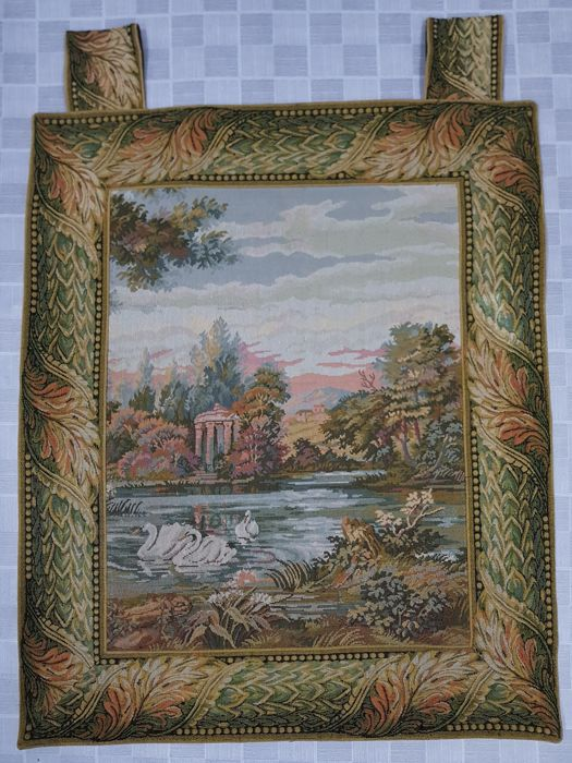 Vintage pictorial tapestry , China 96 cm x 76 cm