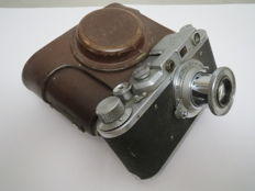 """The very first """"FED"""". With the inscription factory FEDZHERZHINSKOGO.№331361.Prototype of """"Leica II""""."""