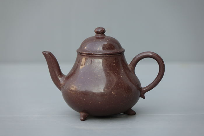 Polished Yixing Pottery Teapot - China (for Thai Market) - Early 20th Century