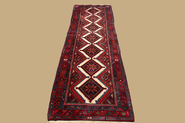 Persian carpet Hamadan approx. 298 x 88 cm