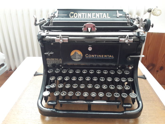Typewriter Continental, 1927, Germany, typewriter