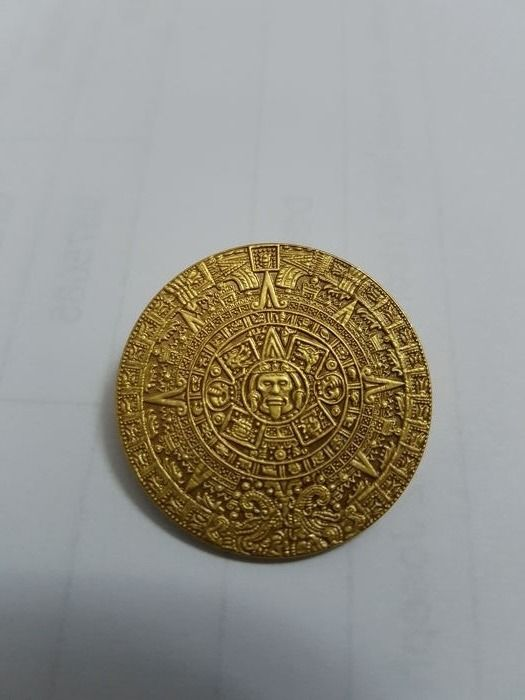 Aztec calendar pendant made of 18 kt gold 3 cm diameter catawiki aztec calendar pendant made of 18 kt gold 3 cm diameter aloadofball Image collections