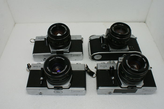 A lot of single lens reflex cameras praktica mlt praktica