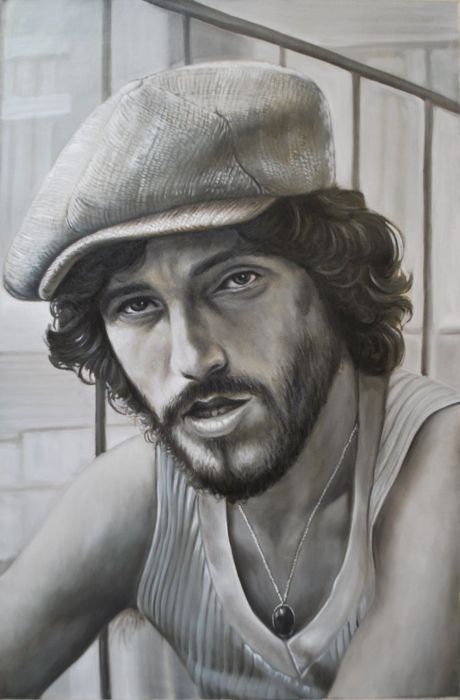 Babet Sarmanta - Portrait of a young Bruce Springsteen