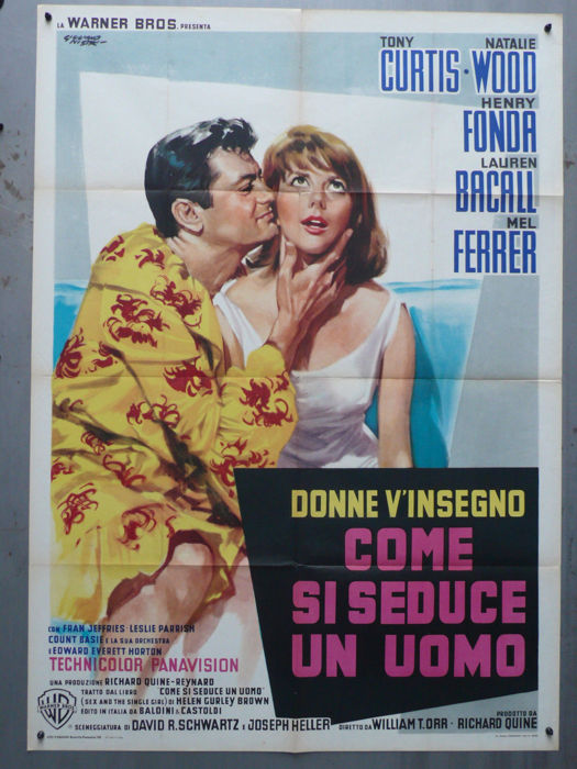 Come se seduce un uomo (Sex and the Single Girl; Tony Curtis, Nathalie Wood) - 1964