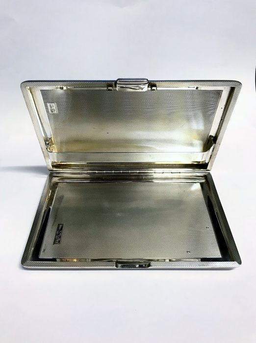 1937 Heavy Sterling Silver Cigar Case