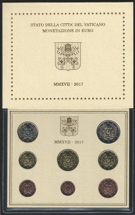 Vatican city - yearset 2017 BU + 2 euro  2017 'Peter and Paul'