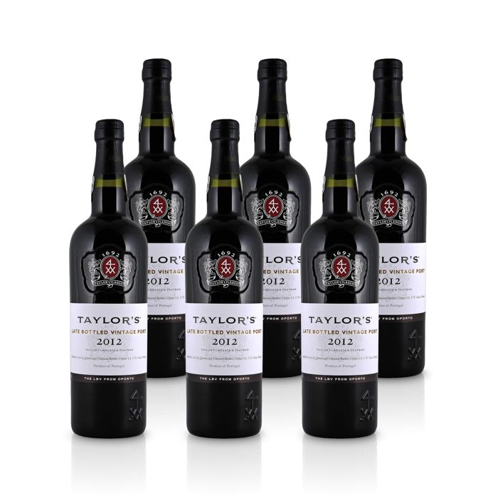 2012 Taylor's Late Bottled Vintage Port - 6 bottles à 0,75 L