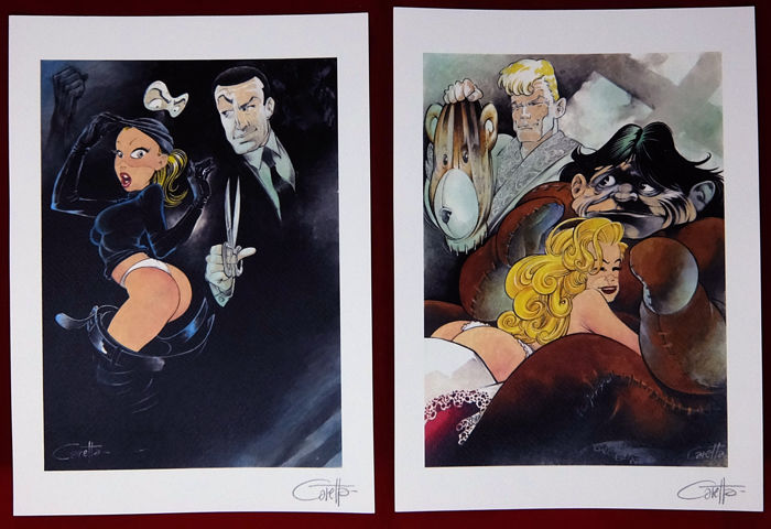 "Caretta, Fernando - 2x prints ""Diabolik"" and ""Martin Mystère"" (2011)"