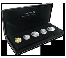 New Zealand - 10, 20, 50 Cents + 1  and 2 Dollars 2012 (5 coins) in set – silver