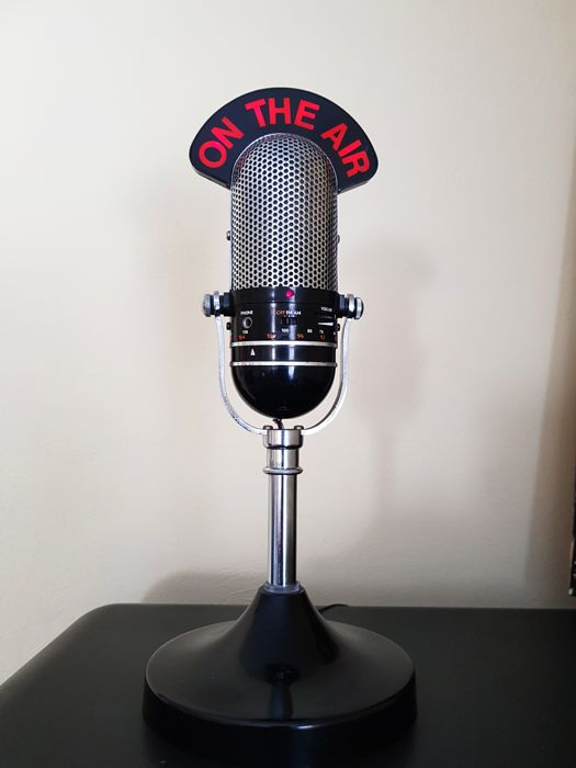 ON THE AIR - old radio nostalgia - microphone - approx 1980