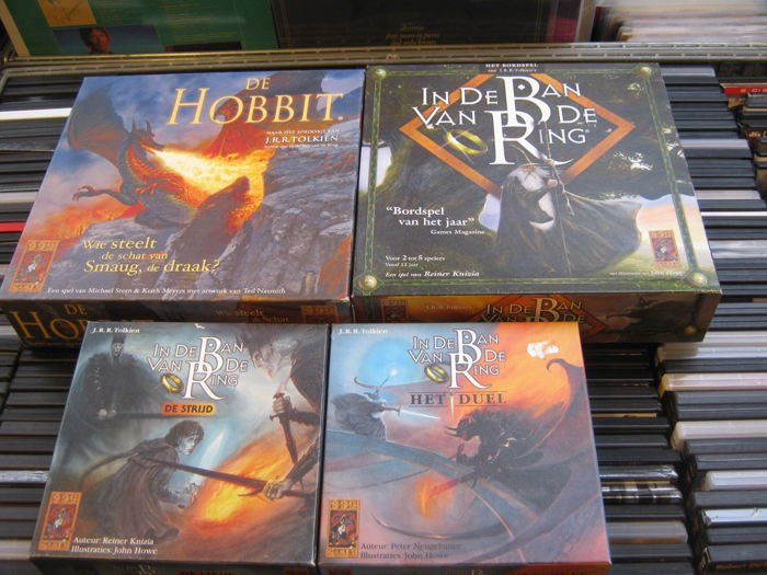 Four Very special Boardgames made by  999. All Lord of the rings games like: The Hobbit,lord off the rings the battle,etc,etc