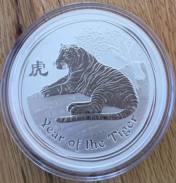 "Australia: 15 dollar 2010 ""Year of the Tiger"" - only 5,058 pieces worldwide!"