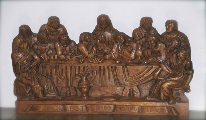 Wood carving the last supper catawiki