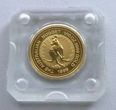 Australia - 15 dollars 1999 'Australian Kangaroo P100' - specially minted coins for the 100-year existence of the Perth Mint - 1/10 oz gold