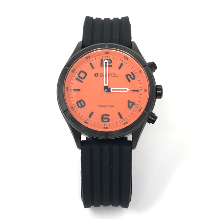 Barrel - Fitster Smart Orange 42mm Silicon iOS/Android - BA-4015-05 - Heren - NEW