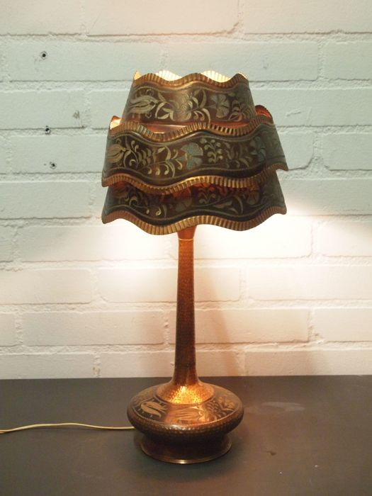 Copper desk lamp