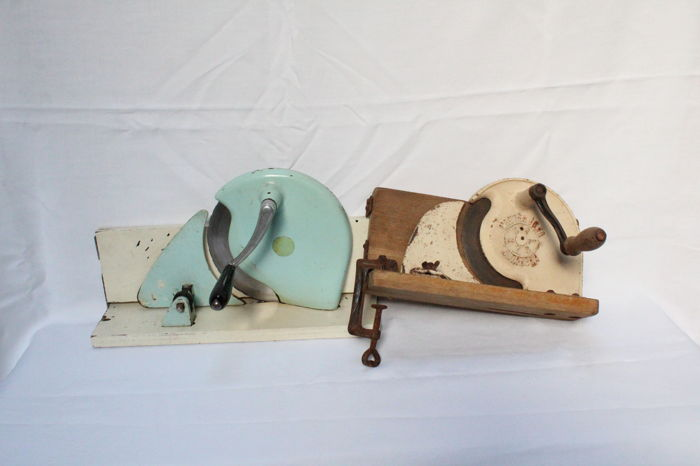 "Two vintage Dutch bread slicer or slicer -""lauterjung solingen""&""FER"" -  1970's"