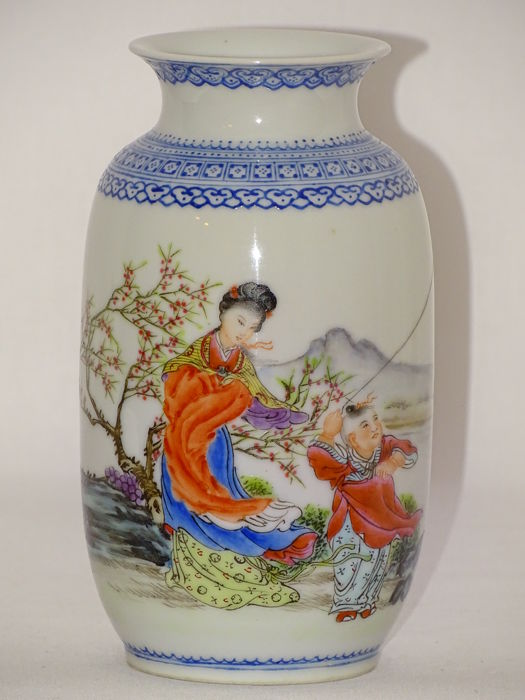 A small Porcelain Vase Marked Qianlung - China - ca. 1970