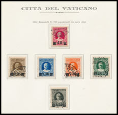 Vatican City 1929/1958 - Complete collection, ordinary mail, including provisional series, all mounted in album with slipcase and Marini sheets