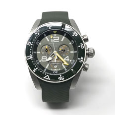 MomoDesign - Diver Master Sport Chronograph Green 46mm Sapphire - MD1281MG-31 - Uomo - NEW
