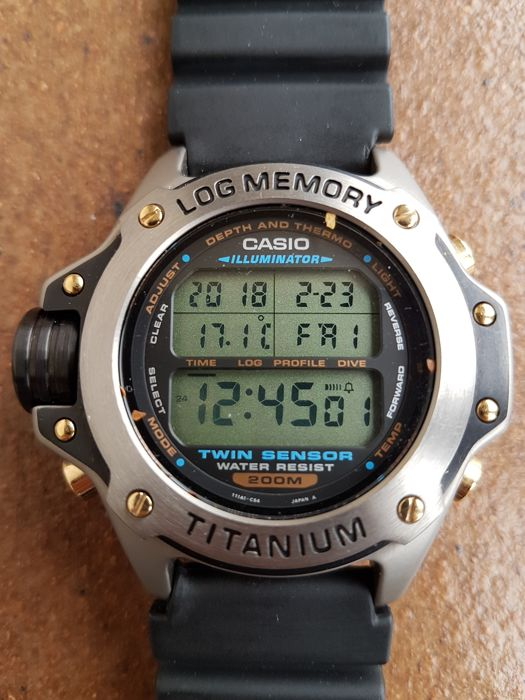Casio - Log Memory 1472 Titanium DEP-700 - 650057 - Heren - '90