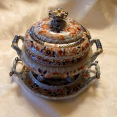 Hicks & Meigh - Sauce Tureen with stand and cover, England