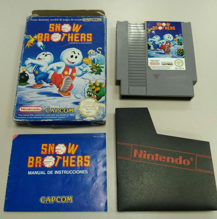 Snow Brothers NES - boxed