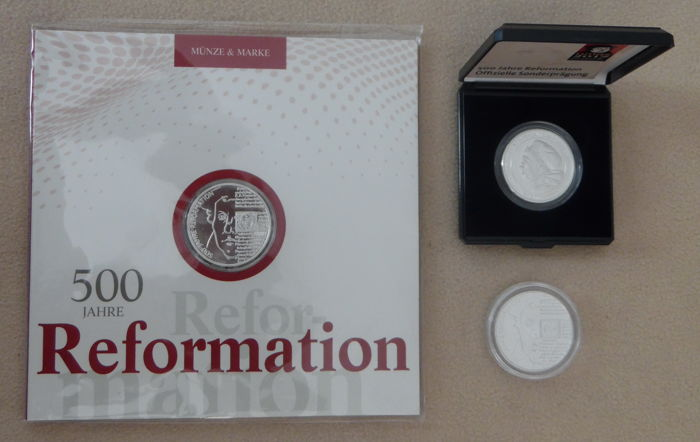 Germany - lot for the 500th anniversary the reformation - 3 coins