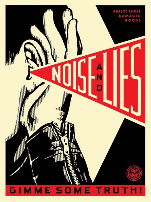 Shepard Fairey (OBEY) - Noise & Lies (Cream)