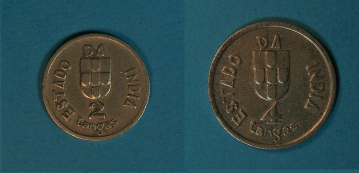 India – Portugal Republic – 2 & 4 Tangas 1934 – Scarce