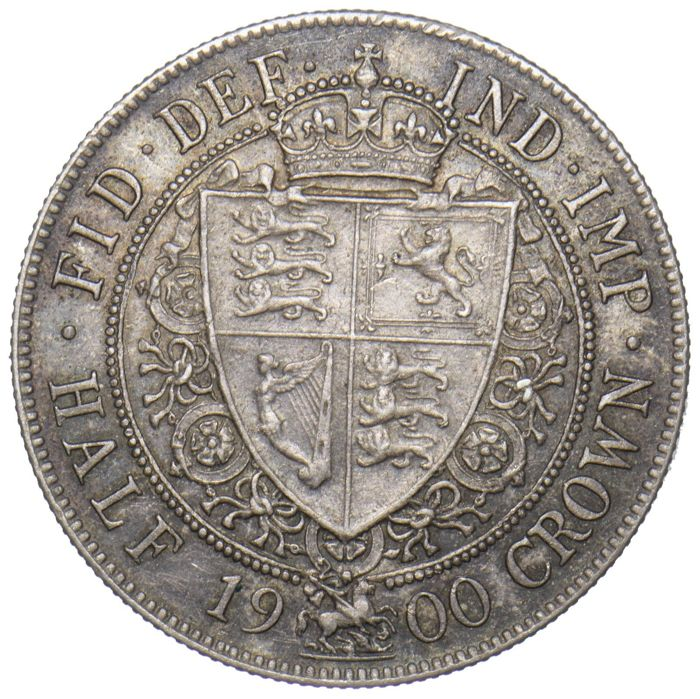 United Kingdom - ½ Crown 1900 Victoria - silver