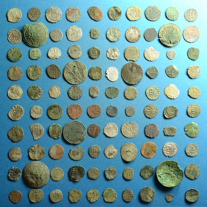 Holy Roman Empire - Lot of 100 Medieval Bronze & Silver coins mainly from Kremnitz