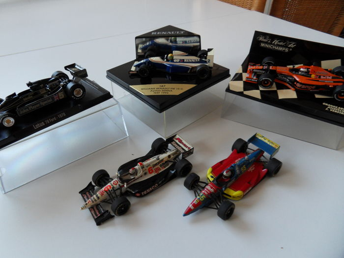Minichamps / Onyx / RBA - Schaal 1/43 - Kavel met 5 modellen: Williams, Arrows, Lotus & Lola
