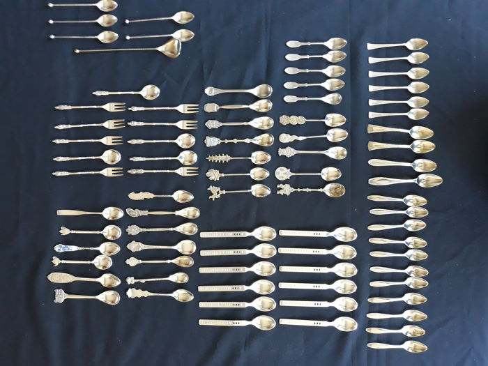 Thee spoons - plated silver etc