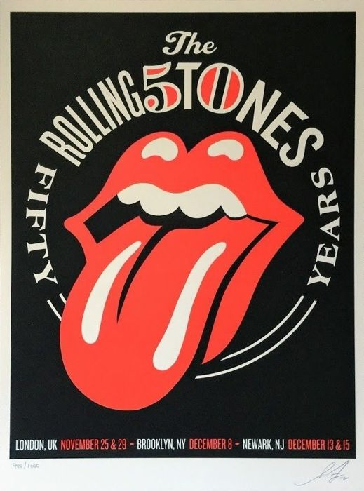 Shepard Fairey (OBEY) - The Rolling Stones 50 Years