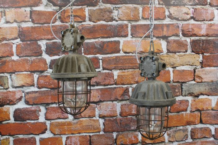 Polam Wilkasy  –  Industrial cage lights (2 x)