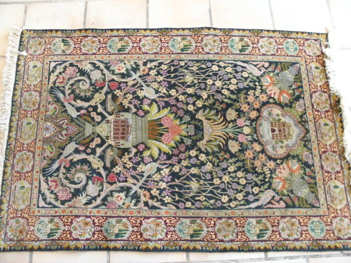 Hand-knotted Persian carpet, 100 x 150 cm – Tabriz – 1980