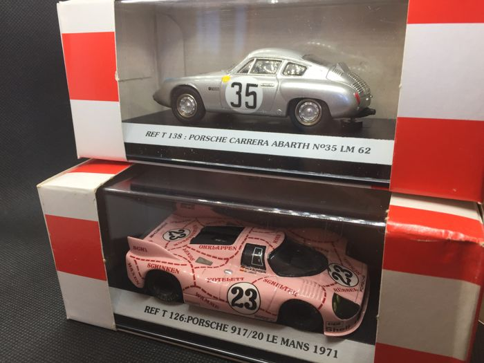 Starter - Scale 1/43 - Lot of 2 Porsche: Carrera Abarth LeMans 1962 & 917/20 Le Mans 1971