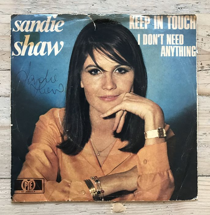 "Sandie Shaw : signed single ""Keep in Touch"""