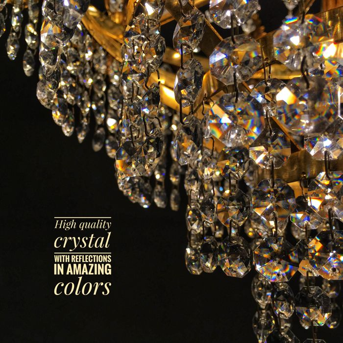 Beautiful High Quality Crystal Chandelier 1970s