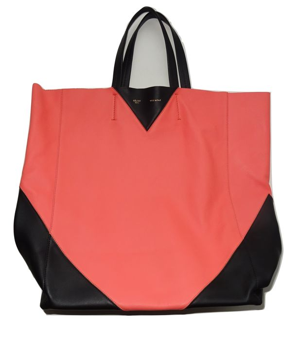 Céline - Bicolor Calfskin Leather Horizontal Cabas Tote bag