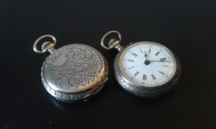 Union Horlogere/Unknown manufacturer - Pair of Art Deco' era pocket watches - circa 20th century