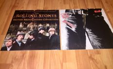 The Rolling Stones - Lot of 2 lp's: Sticky Fingers (Original 1971 Germany Polydor Sticker, Zipper Pressing)+British Broadcasting Collection (Limited Edition On Clear Vinyl)