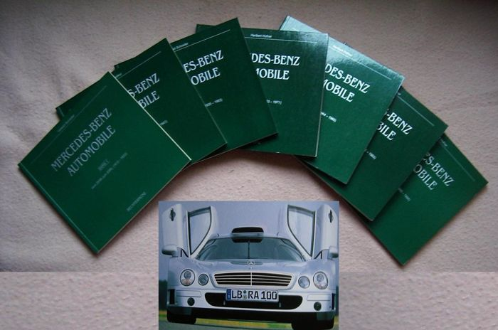 Automobile books; Complete set with 7 spectacular editions about Mercedes-Benz - 1998