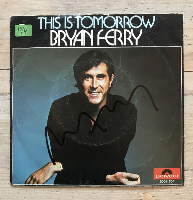 "Bryan Ferry : signed single ""This is Tomorrow"""